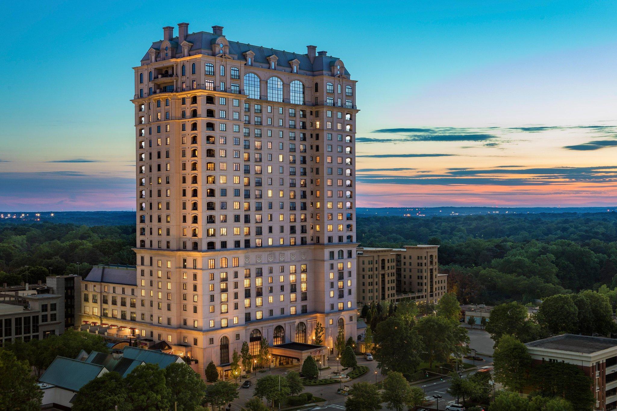 St. Regis luxury high-rise hotel in Buckhead neighborhood of Atlanta, GA