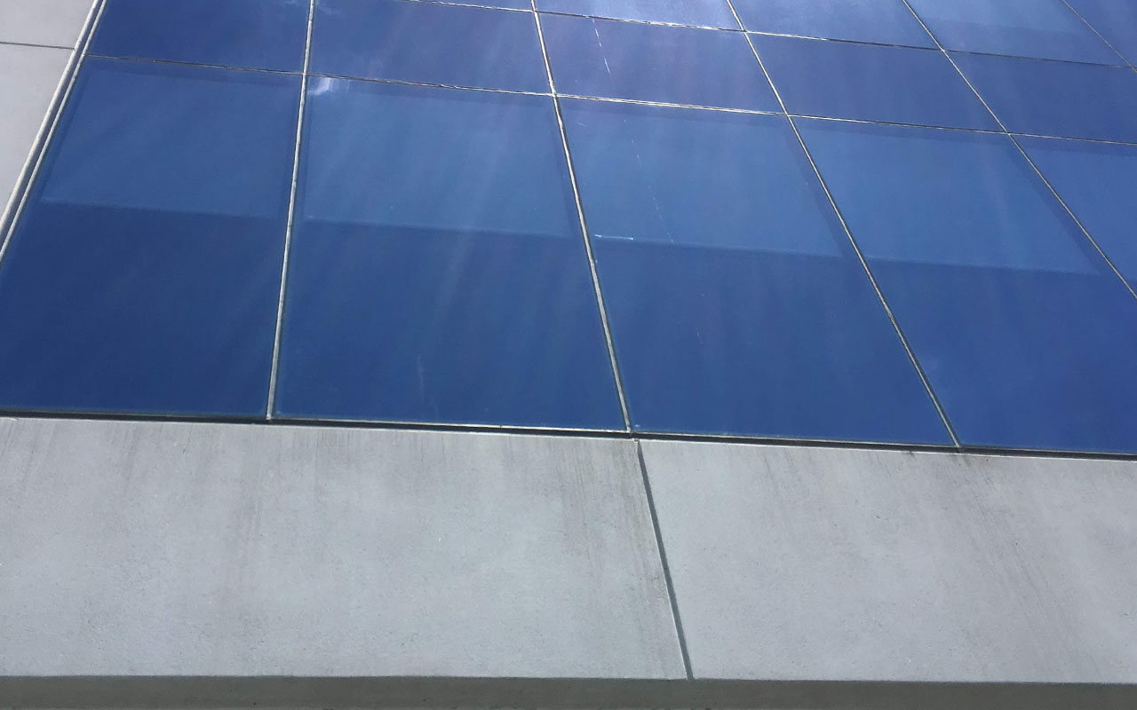Example of a commercial building that needs limestone cleaning services