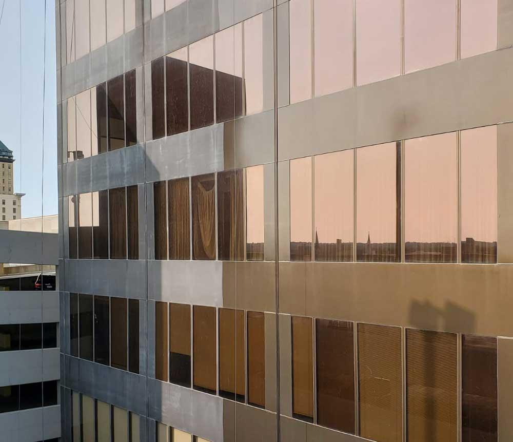 Stratacache glass and metal restoration in dayton ohio in progress