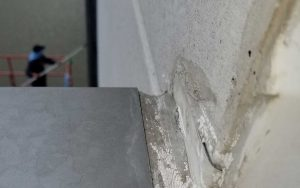 winterize your commercial building and replace damaged caulk like this.