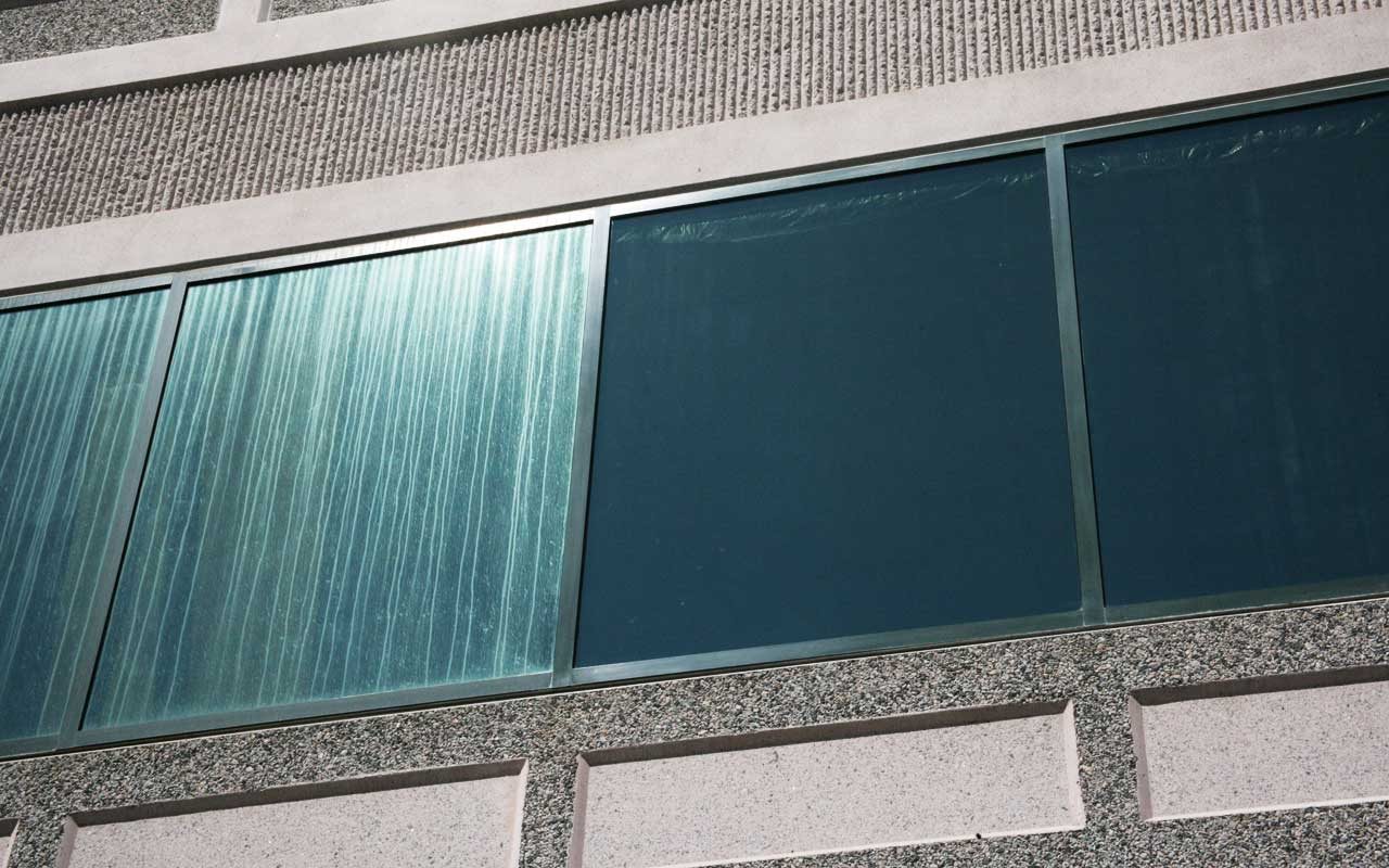 commercial window cleaning problems and restoration before and after