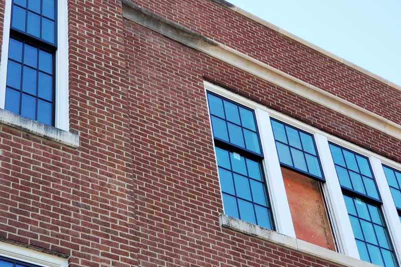 Limestone cleaning services for historic building in Nashville, Tennessee