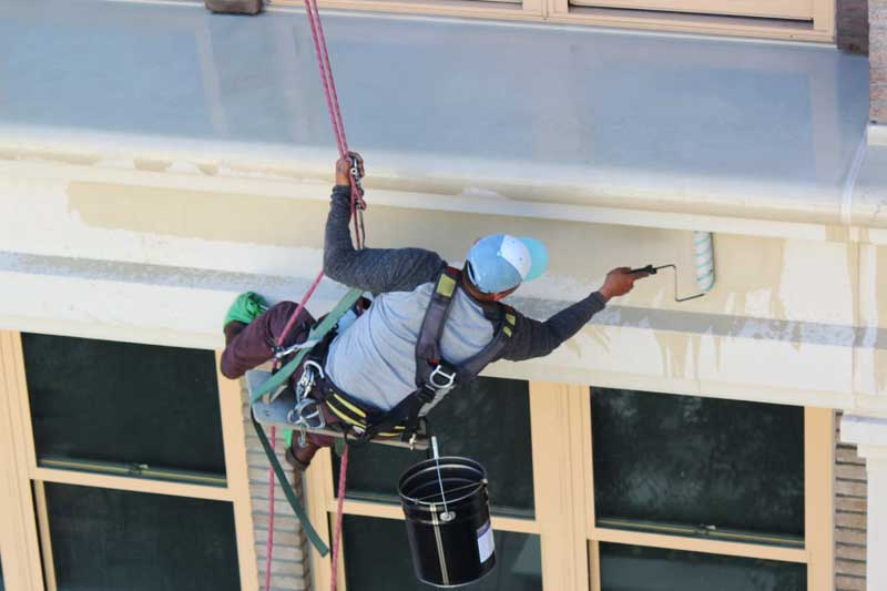 Presto's precast concrete experts seal the Taylor Building in downtown Salinas California with LeachStop