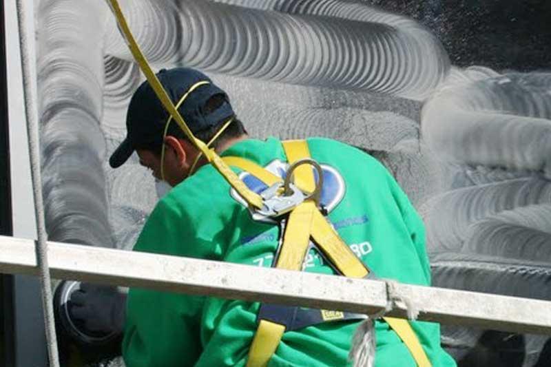 Glass Restoration Services on Harvard Building