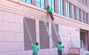 applying an elastomeric coating to a wall