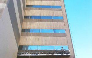 Freshly restored commercial windows