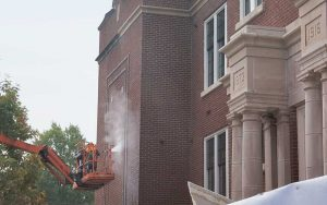 Brick Cleaning and Sealing Services Performed on Historic Building in Nashville Tennessee