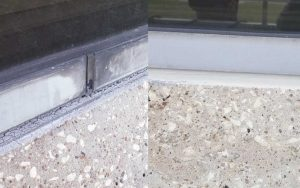 Repaired Caulking Before and After Commercial Waterproofing and Caulking Services