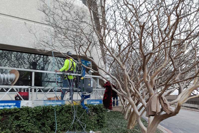 Waterproofing services office building dallas texas