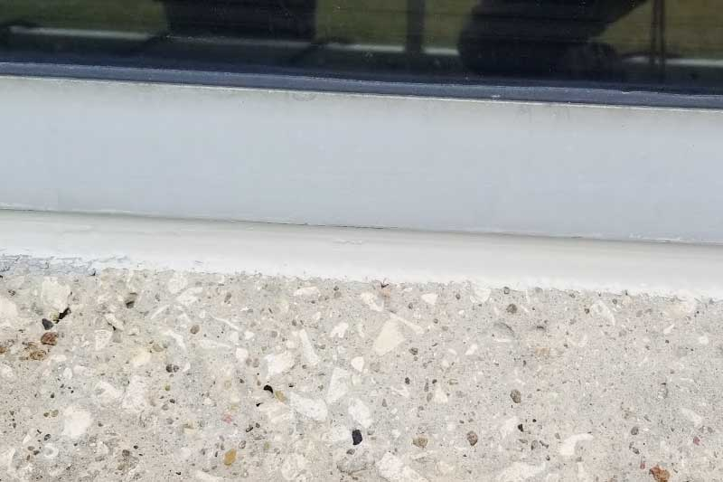new caulking installed dallas texas office building